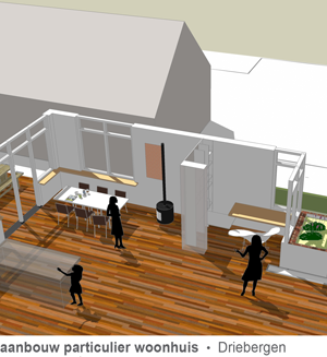 aanbouw particulier woonhuis driebergen